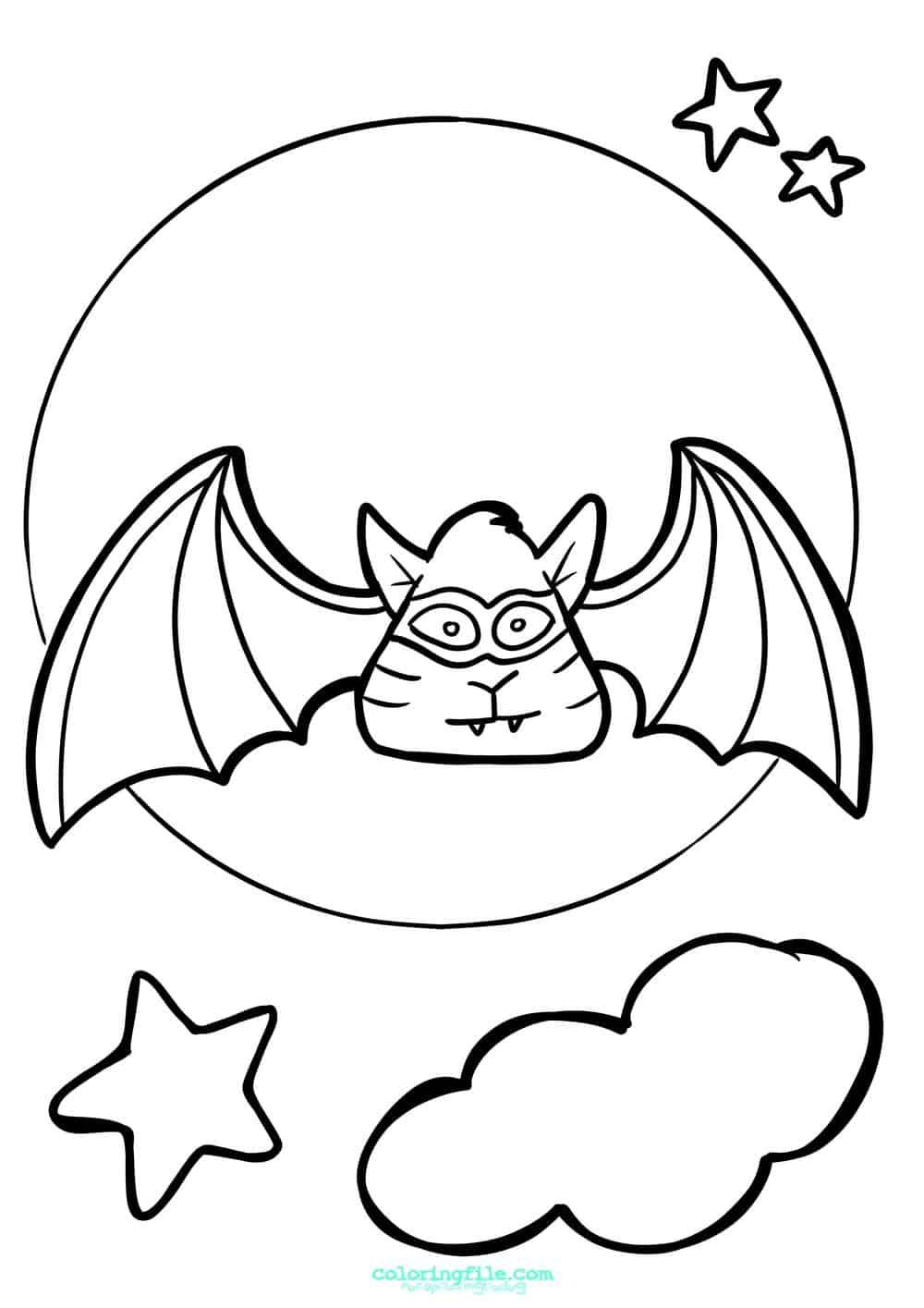Halloween Super Bat Coloring Pages Bat Coloring Pages Halloween