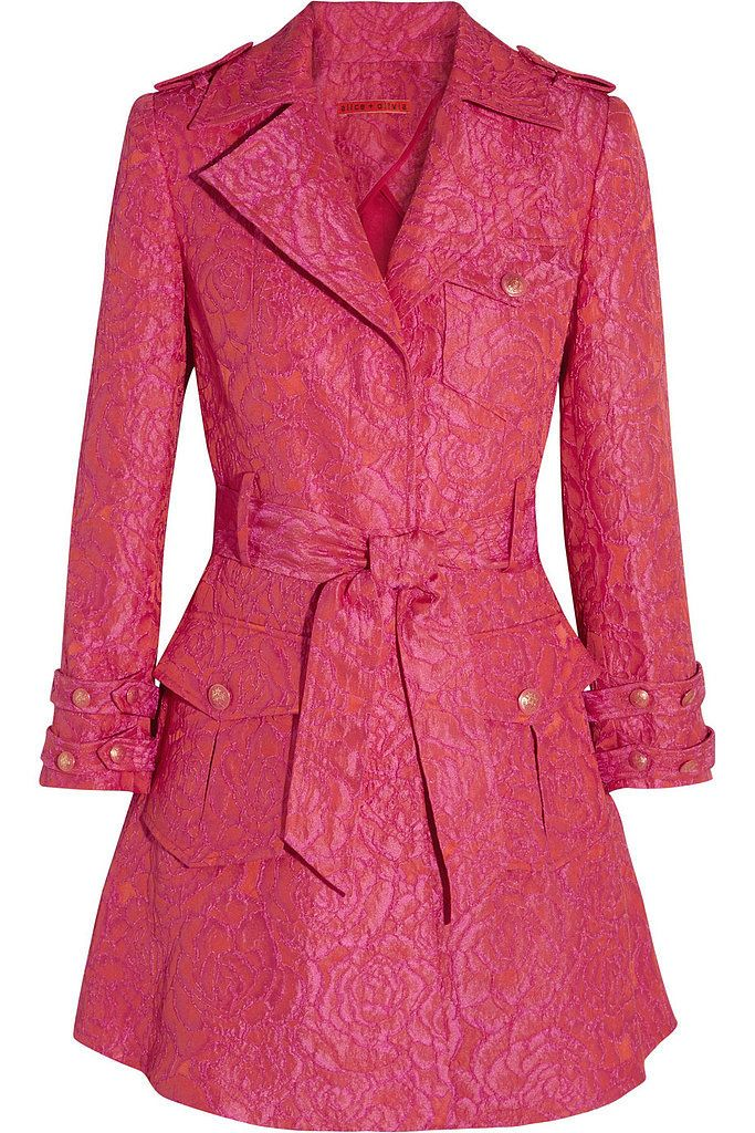 abd4239ac Alice + Olivia Klein Pink Jacquard Trench Coat ($159, originally ...
