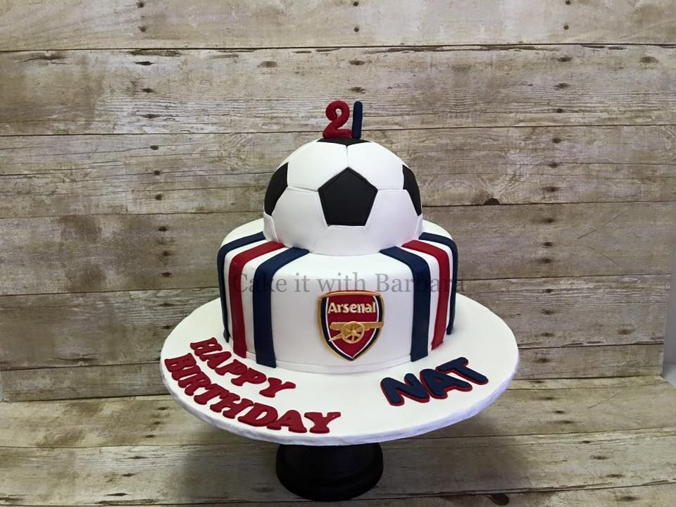 For An Arsenal Fan By Cake It With Barbara 3 Singapore Cake Fondant Cakes Fondant