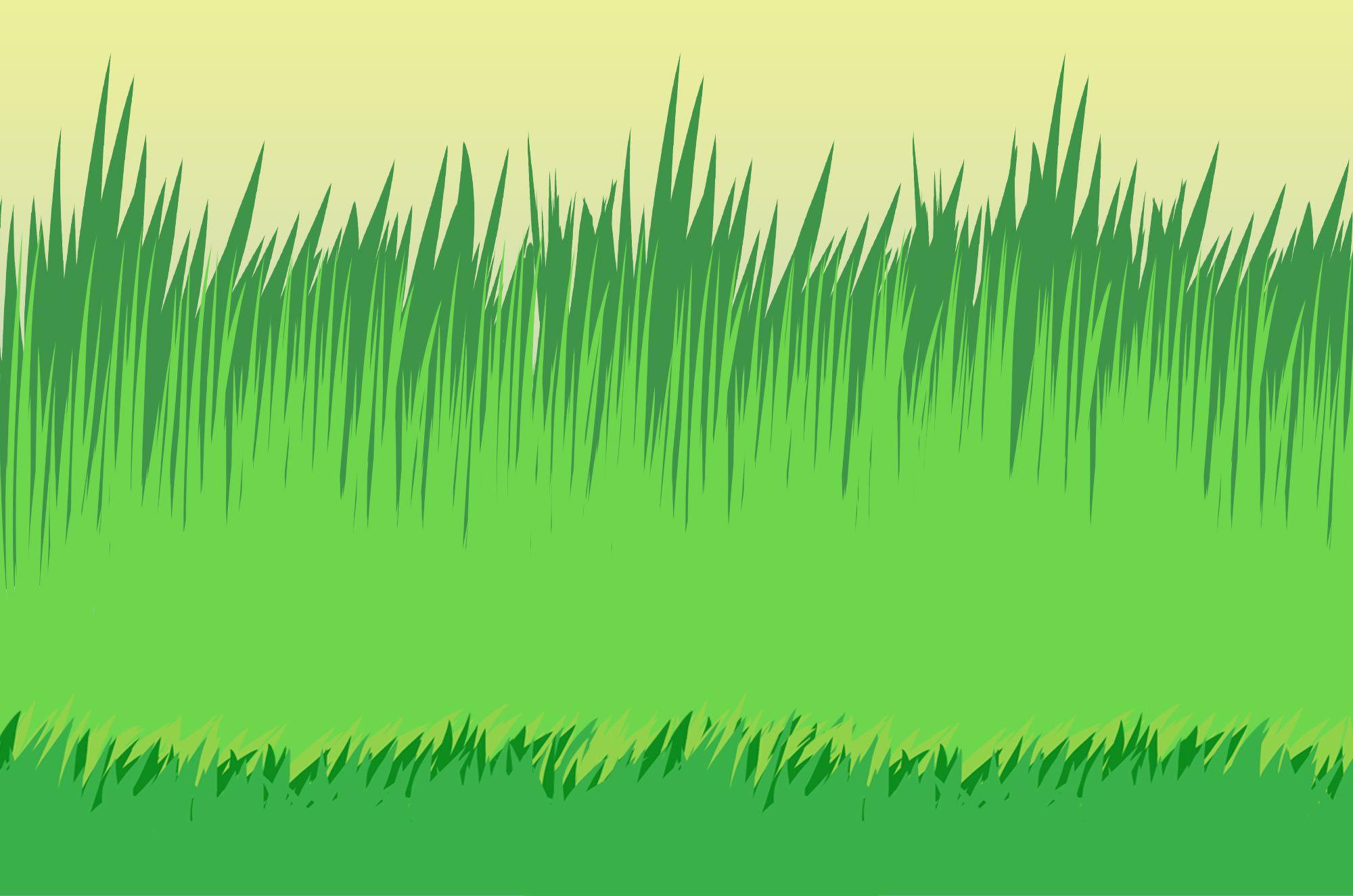 草イラスト 可愛い草のイラスト素材自然の背景に昆虫イラスト
