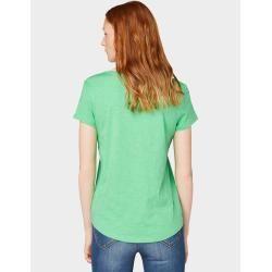 Photo of T-shirt femme Tom Tailor Denim avec imprimé, vert, uni avec imprimé, taille xxl Tom TailorTom Tailor
