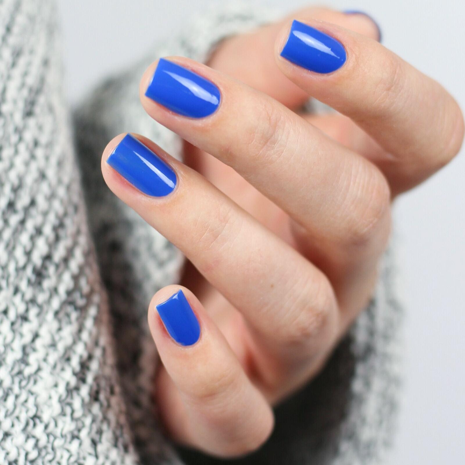 Nails Inc.blauer Gel-Effekt Nagellack in der Nuance Baker Street ...