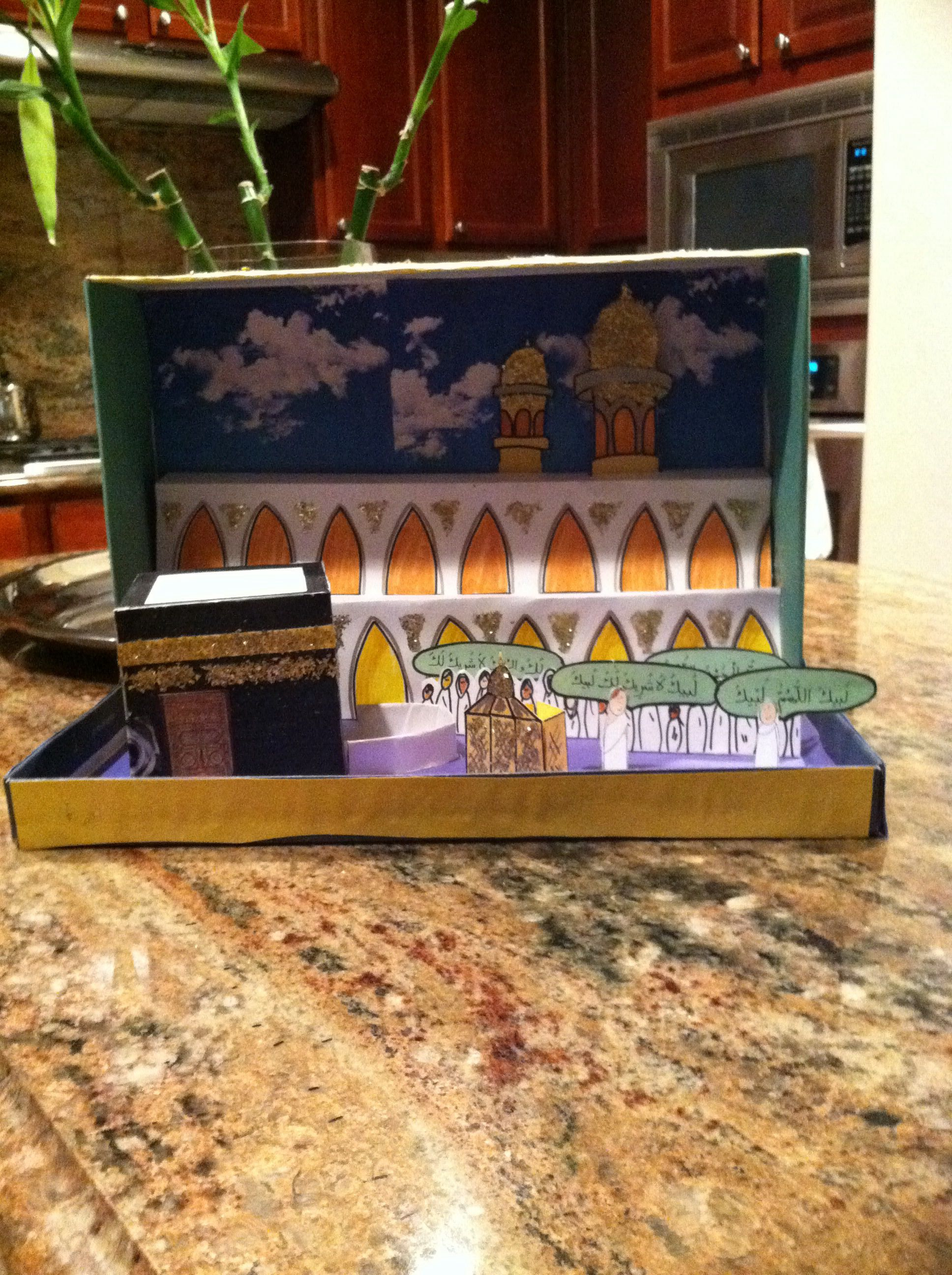 Make A Pizza Box Or Shoe Box Diorama For Eid Aladha Or