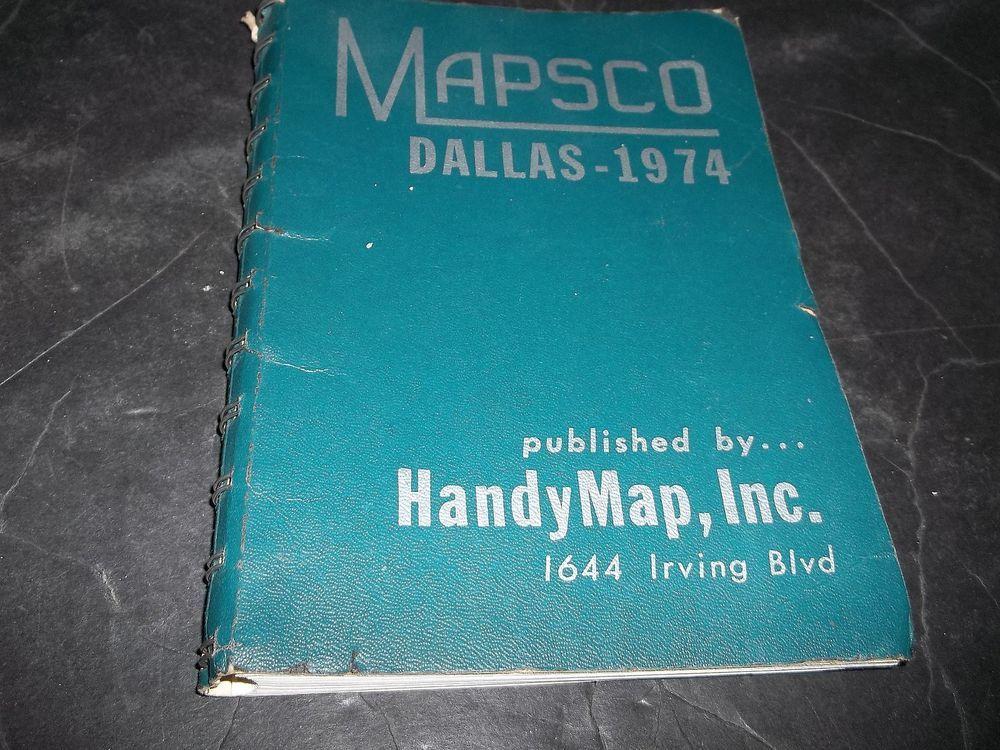 Vintage Dallas Texas Mapsco Airport Highway Shopping
