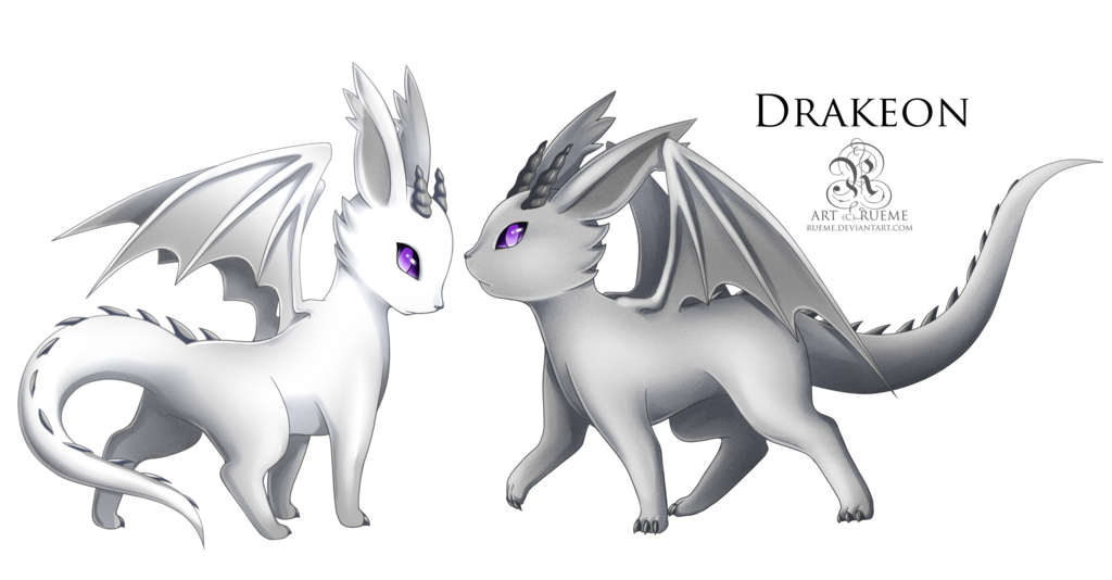 Eevee –> Drakeon Dragon Evolves from Eevee when leveled up ...