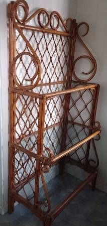 Vintage Bamboo Baker S Rack 70 Tall X 34 1 2 Wide The Top