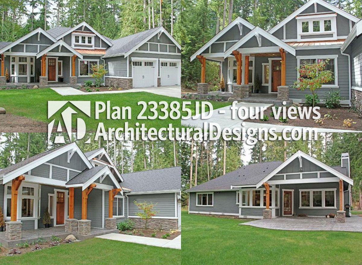 Plan 52222WM Cozy Cottage With Removable Garage