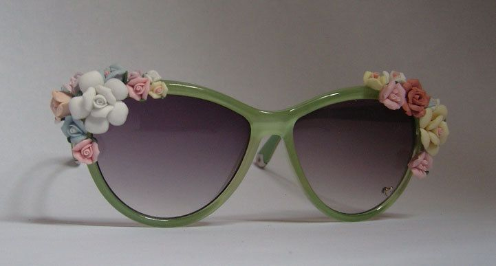 Spring Bouquet Floral Sunglasses via Etsy.