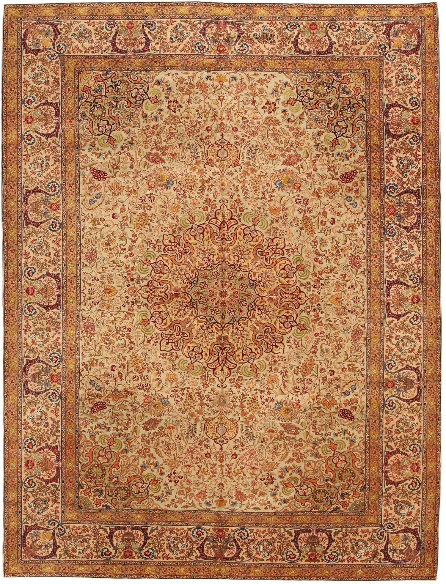 Antique Tabriz Persian Rug 7993 Detail/Large View   By Nazmiyal