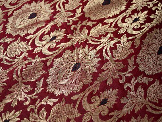 Silk Brocade Fabric Banarasi Silk Brocade Fabric By The