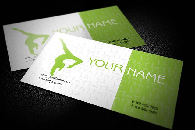Green free design for yoga teacher business cards available for green free design for yoga teacher business cards available for download as adobe illustrator flashek Gallery