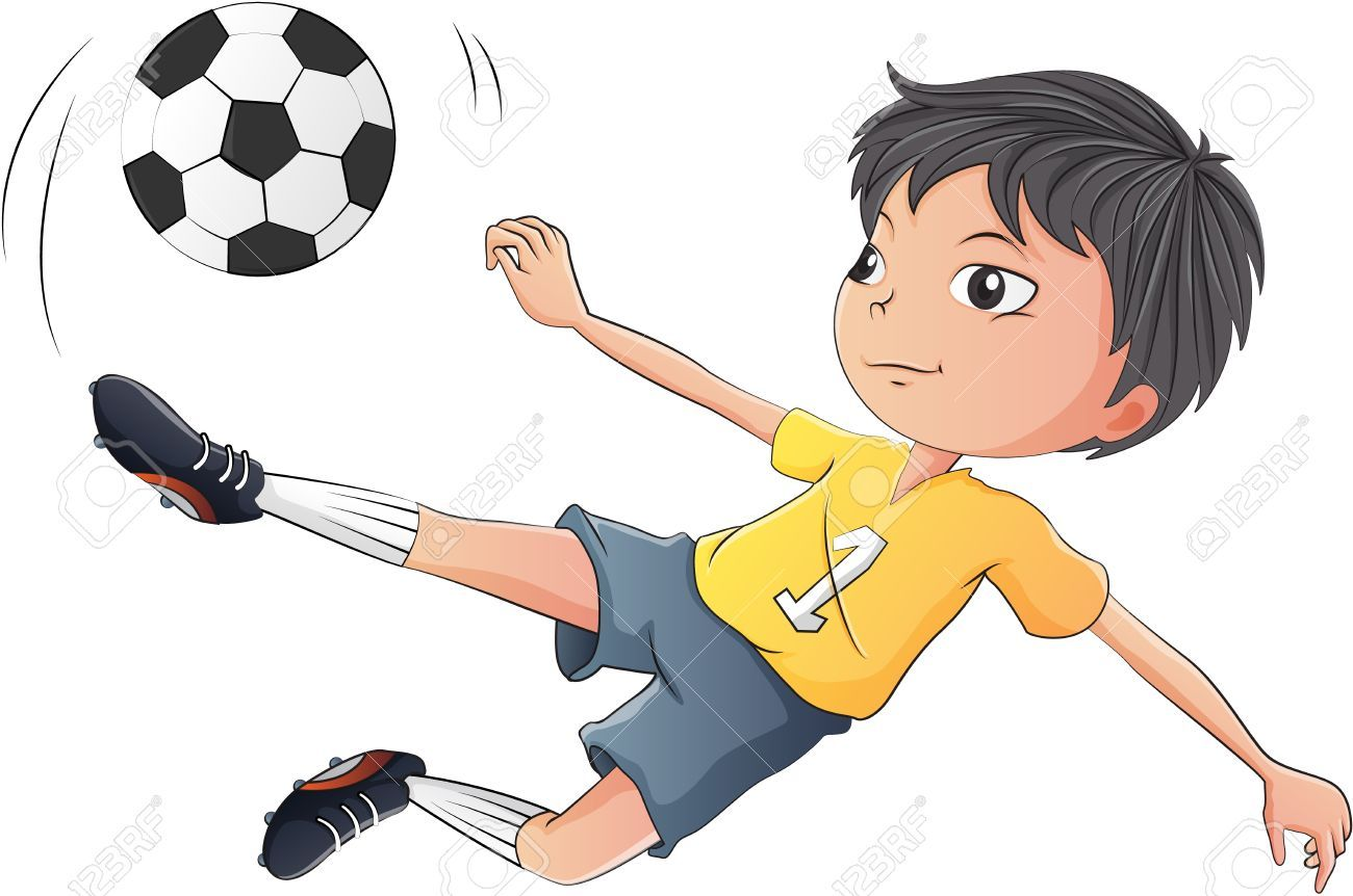 Illustration Of A Little Boy Playing Soccer On A White Background Boys Playing Illustration Soccer