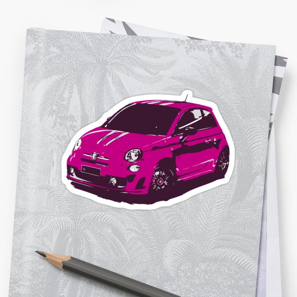 Fiat 500 Abarth Cute Little Italian City Car Glossy Sticker By Thespeedart Car Sticker Design City Car Fiat 500 [ 1000 x 1000 Pixel ]