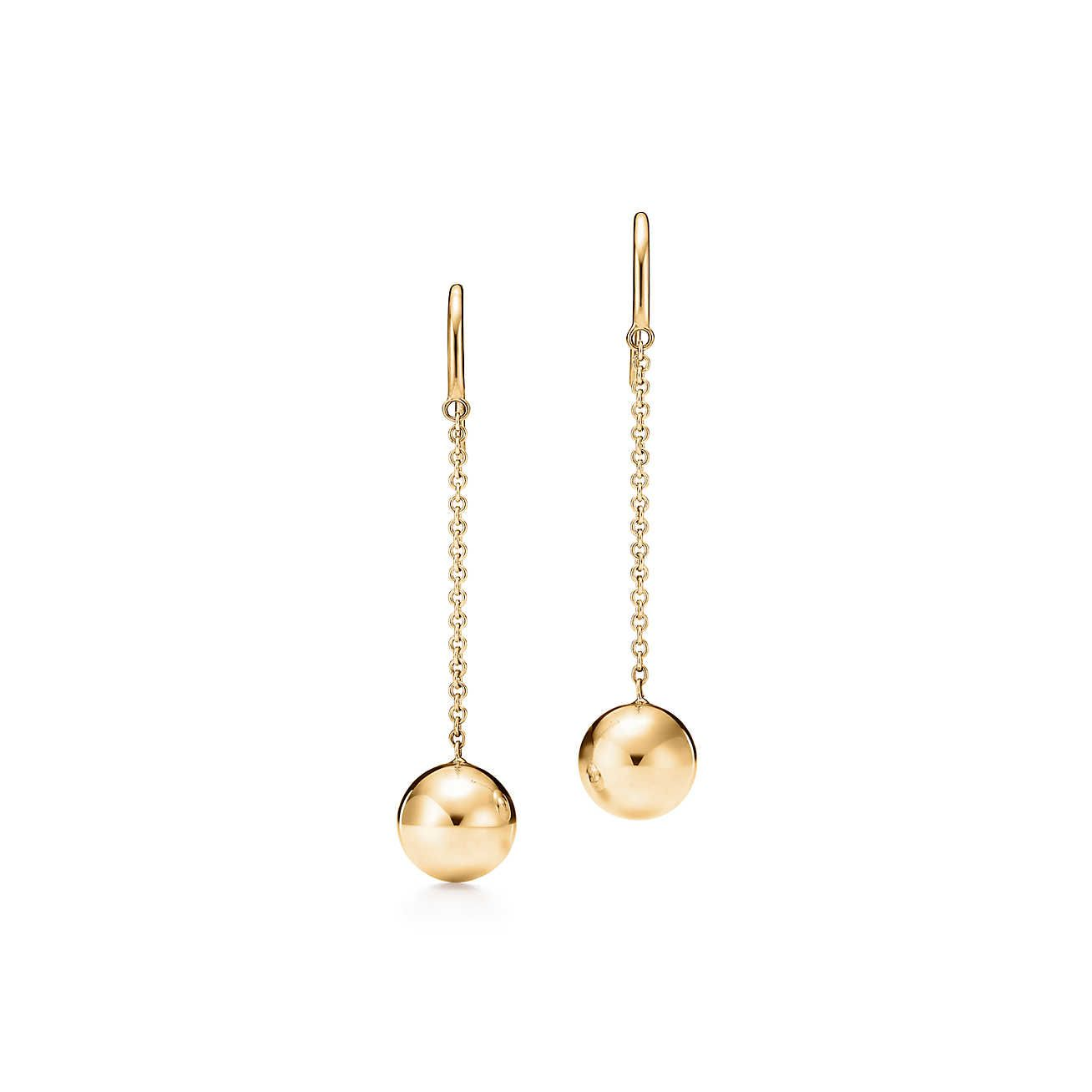2b61eff7c Ball Hook Earrings | Wish List | Tiffany earrings, Chain earrings ...