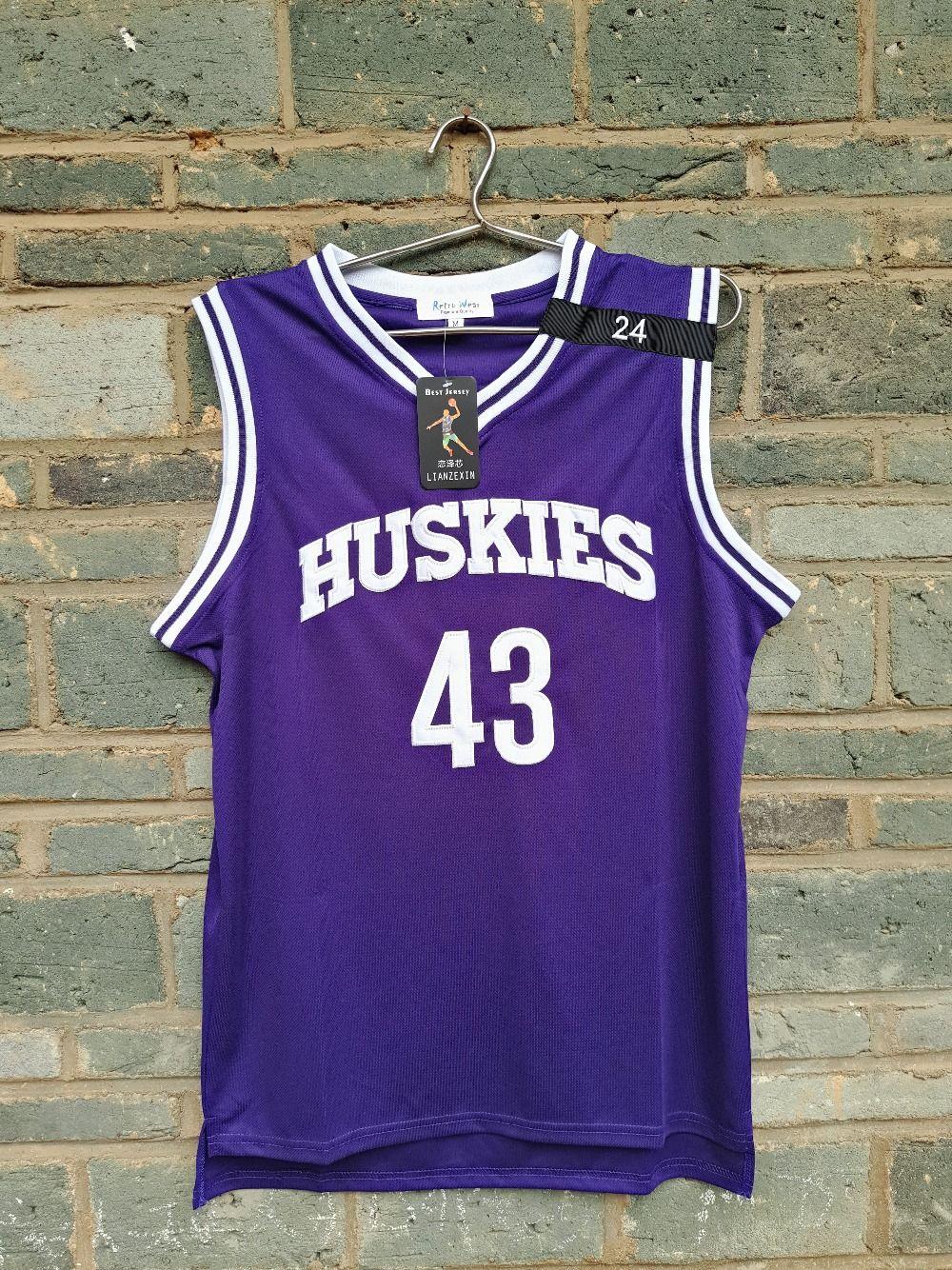 62354cb2294 LIANZEXIN K.Tyler  43 Jersey Huskies The 6th Marlon Wayans Kenny Tyler  Basketball movie Jerseys Purple Color For Men