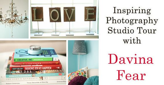 Photography Studio Tour of Davina Fear's In-Home Space | Inspiring Photography Studio Tour Series featured on iHeartFaces.com