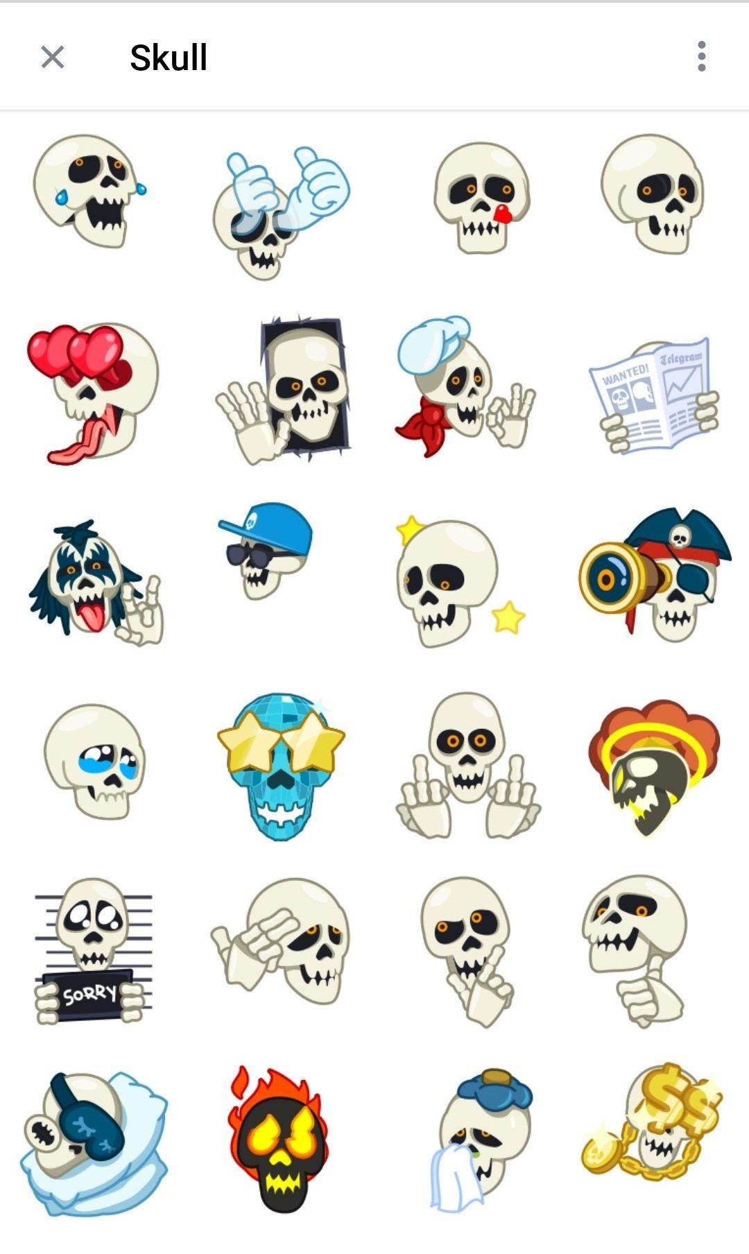 Skull Telegram Animated stickers in 2020 Animation