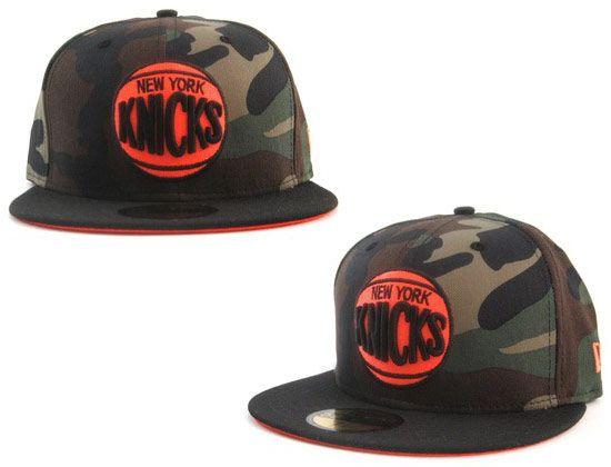 Camo Black Orange New York Knicks 59Fifty Fitted Caps by NEW ERA x ... 9a8f84919bf