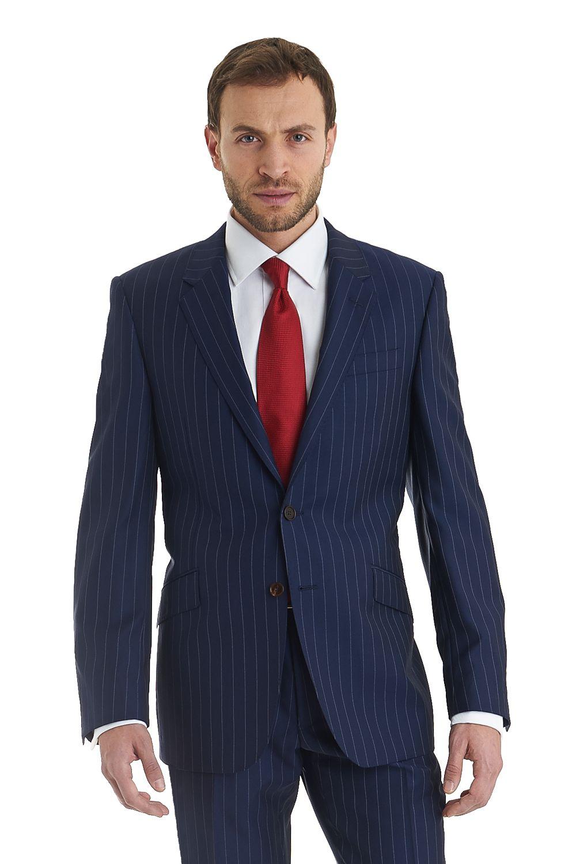 Moss 1851 Italia Collection Regular Fit 2 Piece Stripe Suit Blue ...