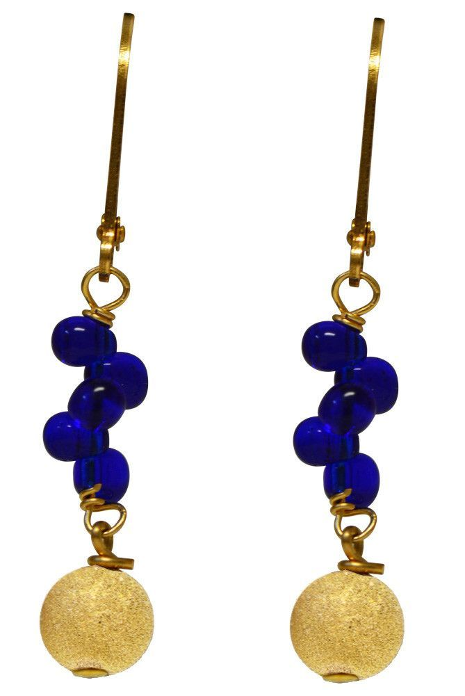 14/20 Gold Filled Double Loop Fringe Bead and Stardust Earrings - Stephen's Collection