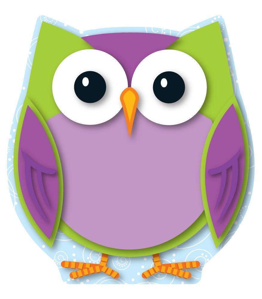 colorful owls mini cutouts printed on card stock