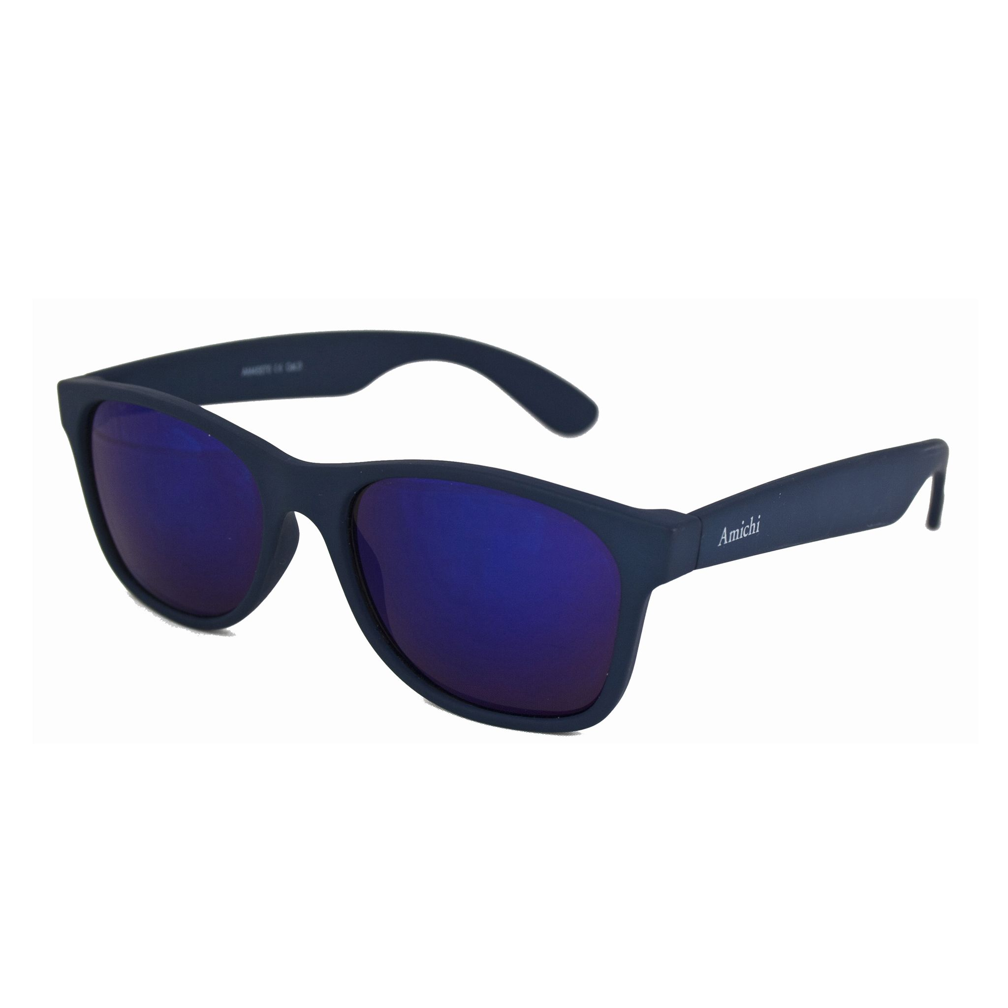 6e2f74bda5 Gafas de sol en color azul marino con cristales de espejo, de la colección  Amichi para Opticalia.