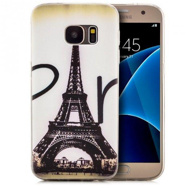 Silikon Motiv Case 2 für Samsung Galaxy S7 - Eiffel tower