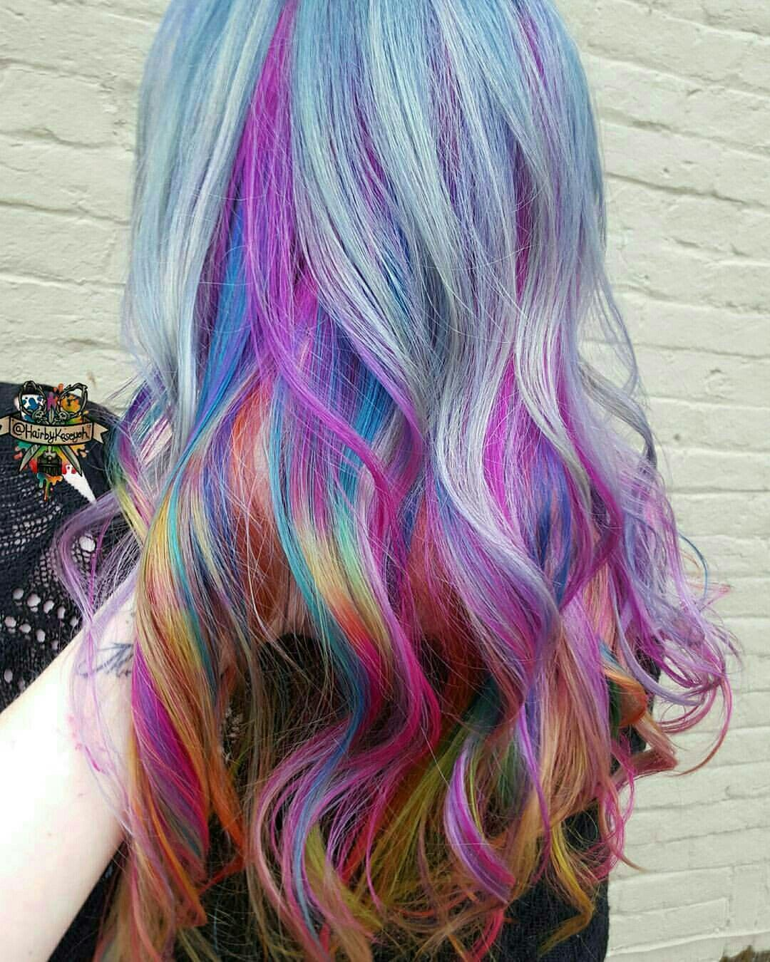 Pin by nonie chang on dyed hair pinterest rainbow hair dye hair