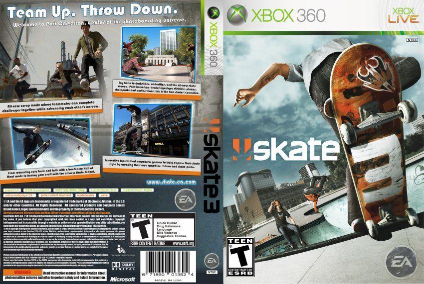 Skate 3 Xbox, Skate 3, Xbox 360