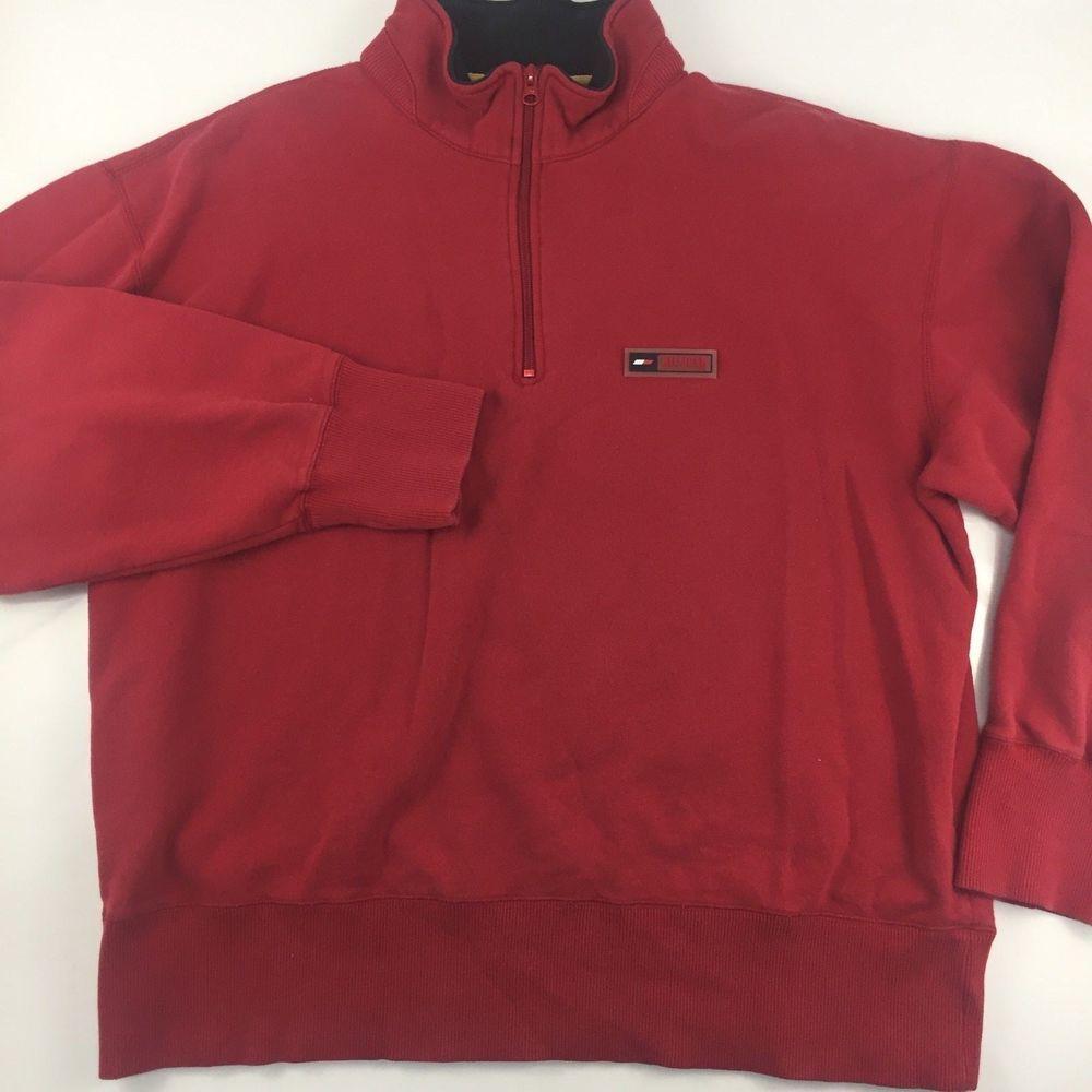 6592939e Vintage Tommy Hilfiger Athletics Pullover Sweatshirt 90s 1/4 Zip Red Mens  Large #TommyHilfigerAthletics #SweatshirtPulloverJacket #TommyHilfiger  #TommyJeans ...