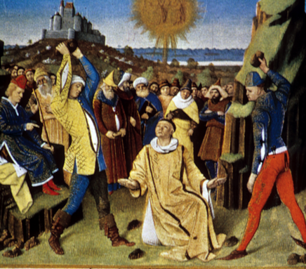 1452-1460  15th century  Man on right wears blue doublet