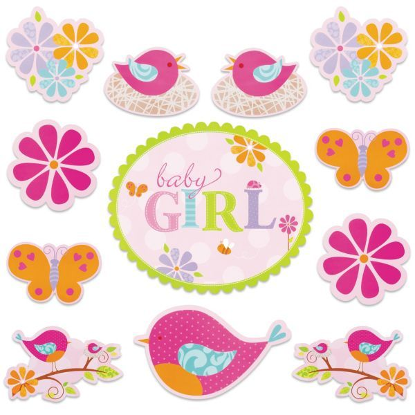 Tweet Baby Girl Baby Shower Cutouts 6ct From Party City Baby