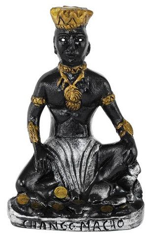 Originating within the Yoruba faith and influencing Santeria, and many other faiths of Latin America and the Caribbean, Chango is the orisha of thunder and lightning. Known as the Sky Father, he is often viewed as chief among the Orisha and among the post powerful of the Orisha under Olodumare. In history, Chango (also known as Shango or Jakuta) was the third king of Oyo. With many stories surrounding his birth and acquisition of magic, it is universally agreed that his life was ful $56.95