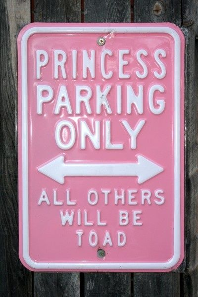 Funny Princess Parking Only sign Card | Zazzle.com