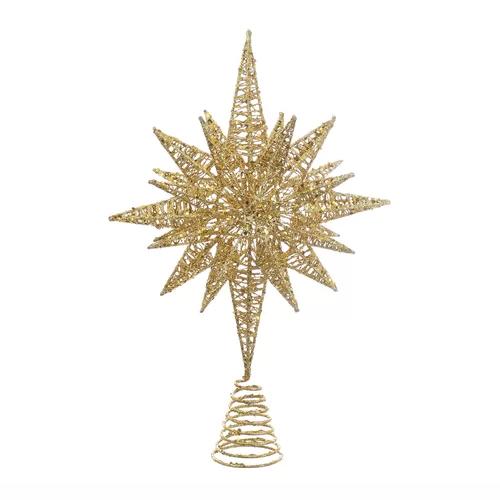 Glitter Angle Star Tree Topper Christmas Tree Star Topper Star Tree Topper Gold Christmas Tree Topper