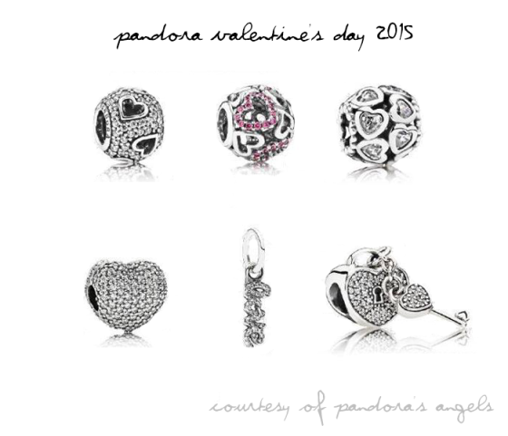 pav charms from the pandora valentines day 2015 collection