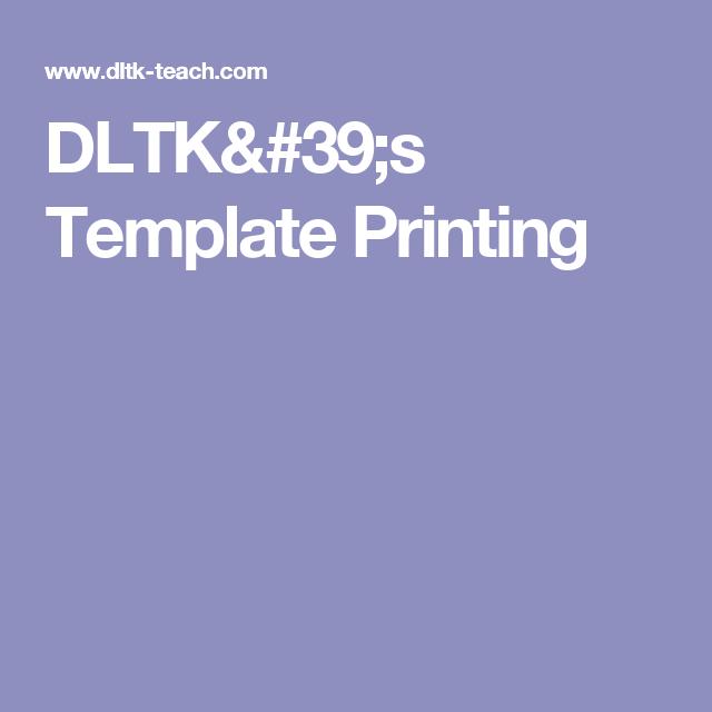DLTK\'s Template Printing | Books | Pinterest