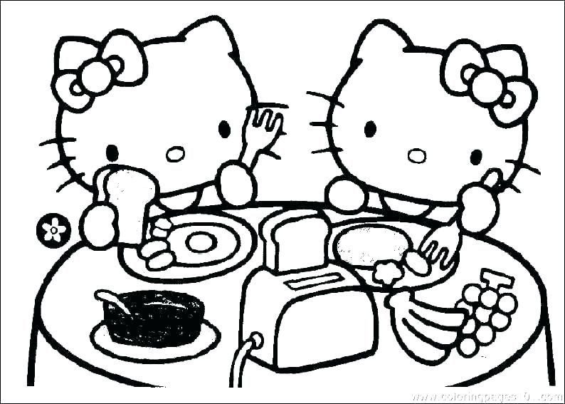 Kitty Cat Pictures Color Hello And Friends Coloring Pages Hello