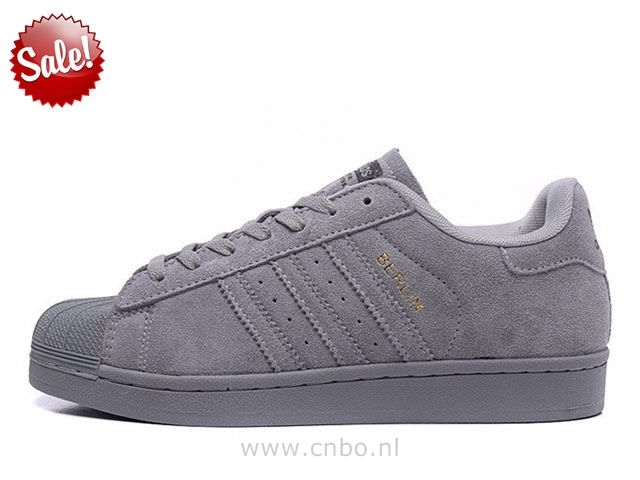 adidas superstar dames grijs
