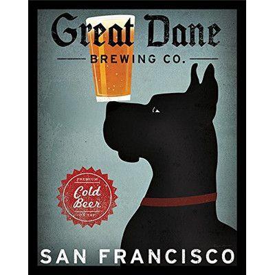 Winston Porter Great Dane Brewing Co San Francisco Framed