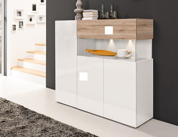 Arte M Sideboard ~ Beam arte m modern door and drawer cabinet in high gloss