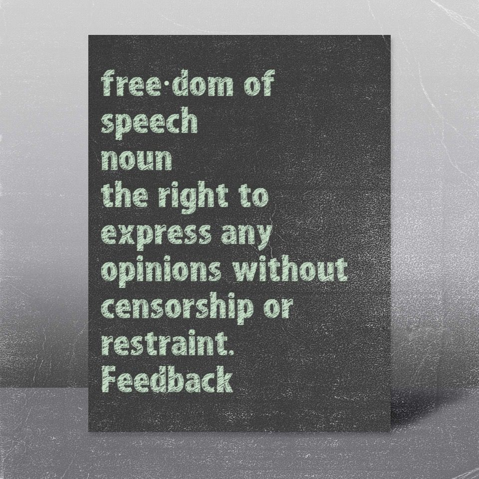 Freedom Of Speech Is The Right To Express Any Opinion Without