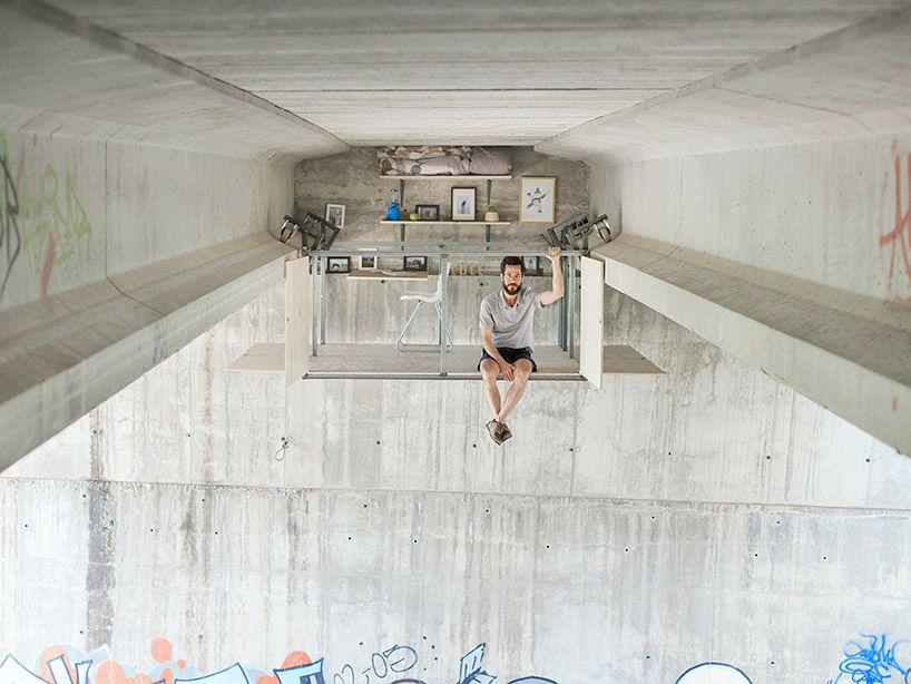 Secret Studio Hidden Beneath Overpass by Designer Fernando Abellanas - BOOOOOOOM! - CREATE * INSPIRE * COMMUNITY * ART * DESIGN * MUSIC * FILM * PHOTO * PROJECTS