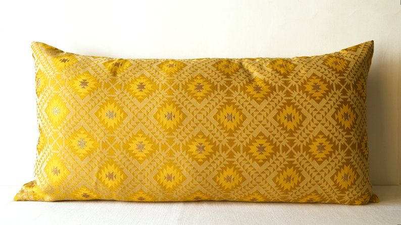 Mustard Cushion Cover Mustard Yellow Cushion Mustard Pillow Etsy