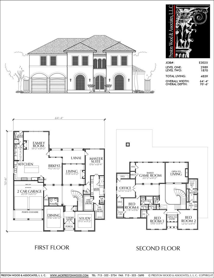 Two Story House Plan E3025 Planos De Casas Diseno De Casa Planos Disenos De Casas