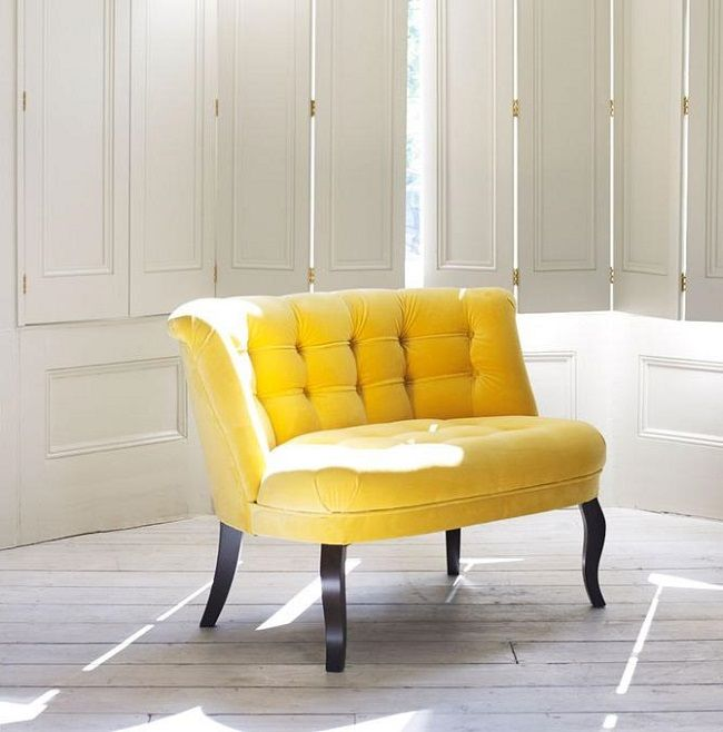 Yellow Living Room Ideas Velvet Tub Chair  Furniture  Pinterest Delectable Yellow Living Rooms Review