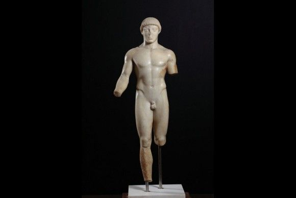 A Masterpiece from the Museo Archeologico Regionale di Agrigento.Unknown, Kouros (The Agrigento Youth), about 480 B.C.