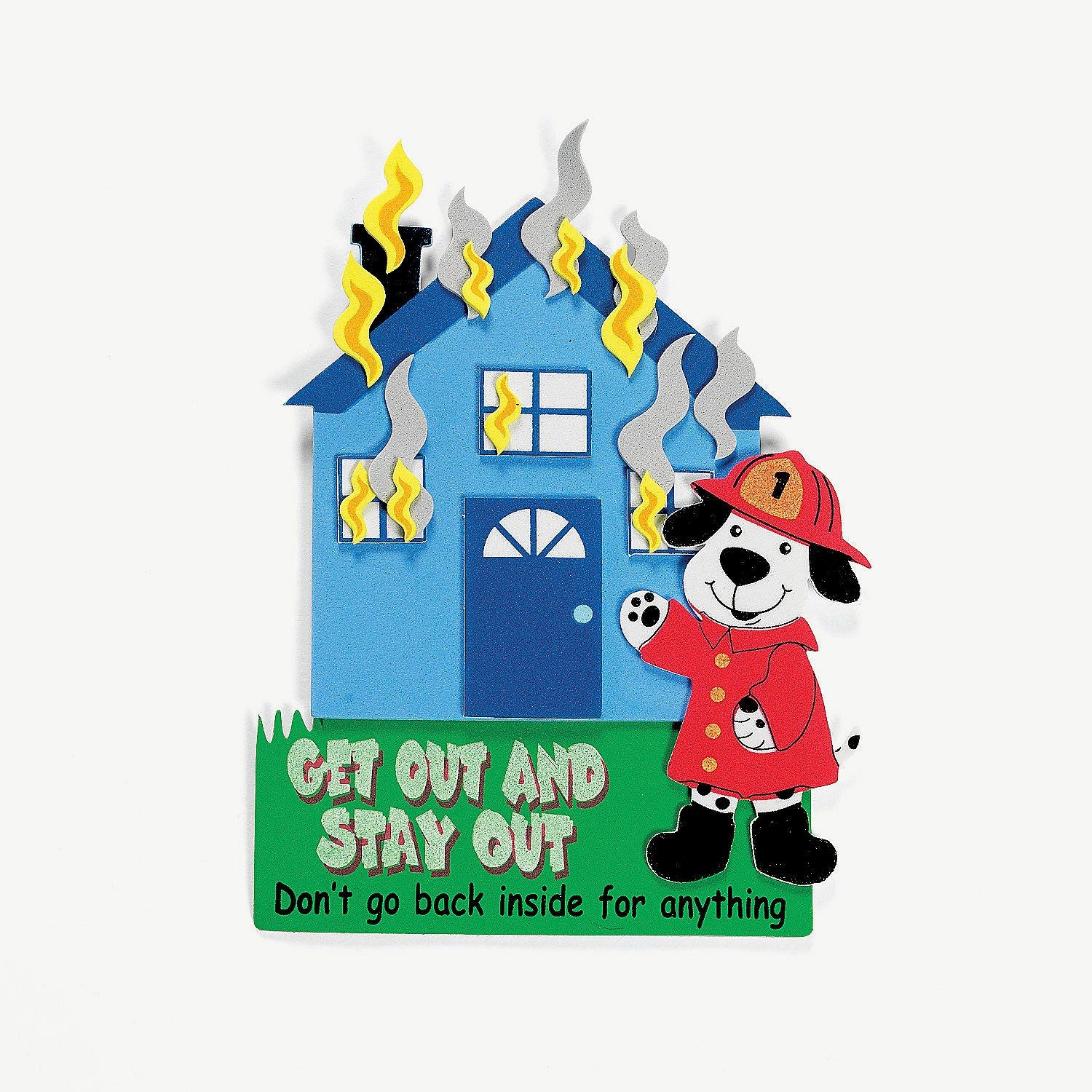 House Fire Safety Magnet Craft Kit - OrientalTrading.com @Dre Sardo ...
