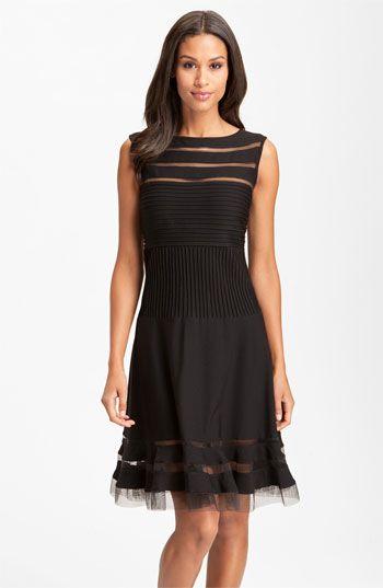 fe04e4def50 Tadashi Shoji Sleeveless Mesh Stripe Jersey Dress available at  Nordstrom