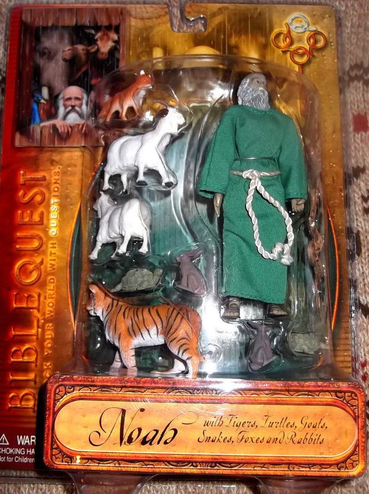 Bible Quest Noah Action Figure With Tiger Turtles Goats